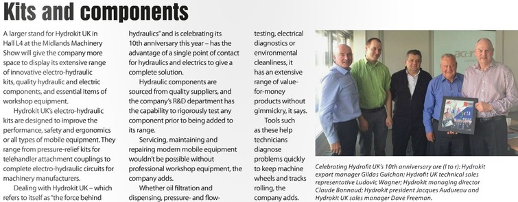 An editorial about Hydrokit UK in Farmers Guide November 2015