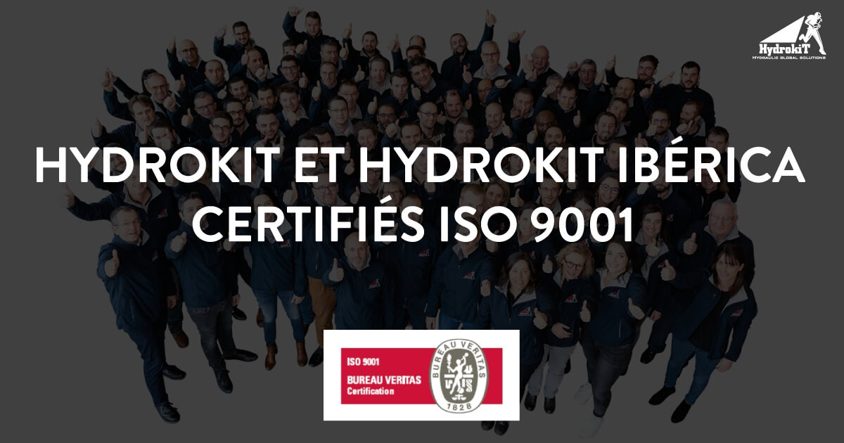 Hydrokit est certifié ISO 9001