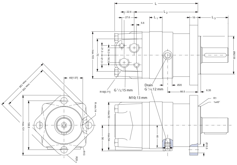 151f0501 moteur hydraulique danfoss oms100