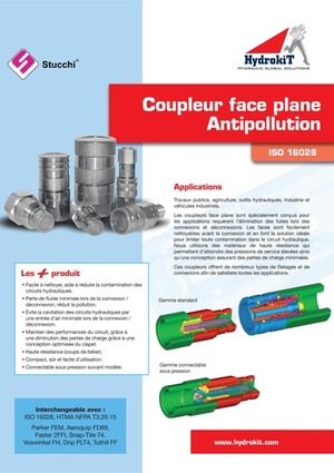 Afficher le guide Coupleur face plane antipollution