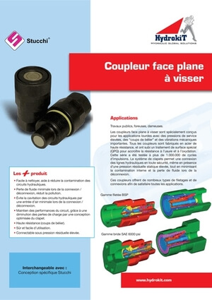 Afficher le guide Coupleur face plane à visser