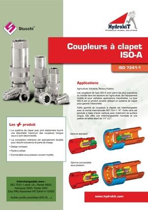Catalogue coupleurs hydrualiques à clapet ISO A