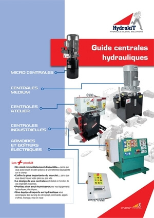 Catalogue centrales hydrauliques