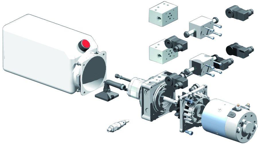 Mini centrale hydraulique 380v