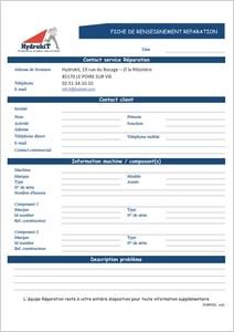 Ficha de reparación Rexroth Brueninghaus Hydromatik Hydrokit