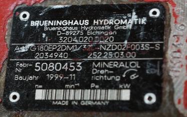 Réparation d'une pompe hydraulique à pistons Rexroth Brueninghaus Hydromatik