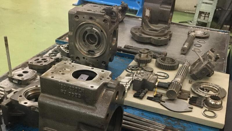 Remontage d'une pompe à pistons Kawasaki