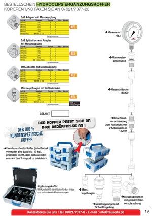 Hydroclips Ergänzungskoffer Hydrokit Rau Serta