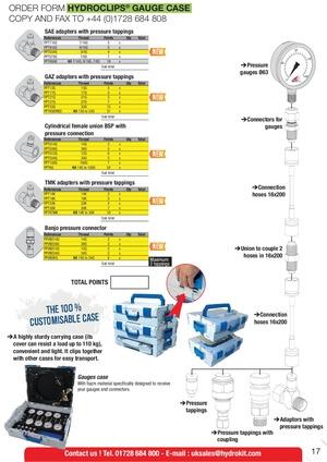 Hydroclips gauge case Hydrokit