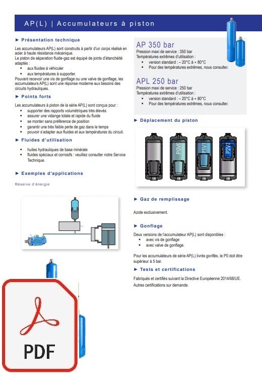 catalogue accumulateur APL / AP