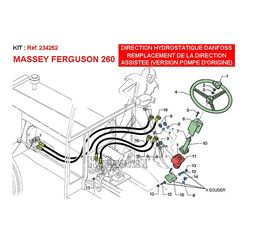 Replacement power steering on Massey Ferguson 260