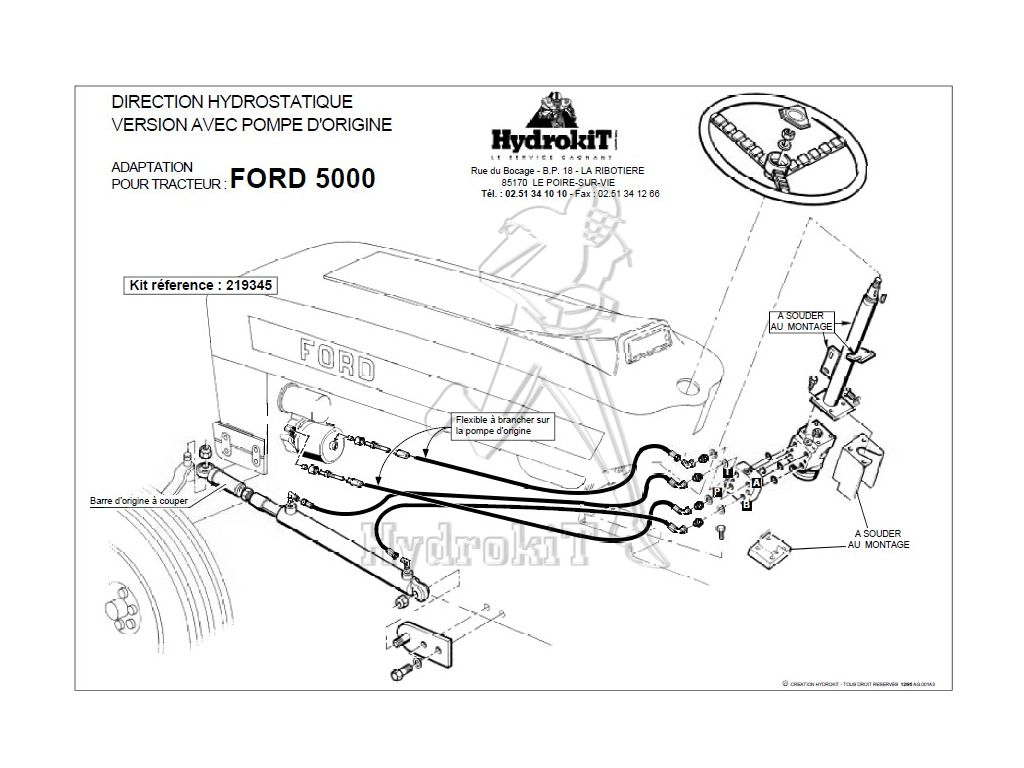 ford 5000 power steering diagram