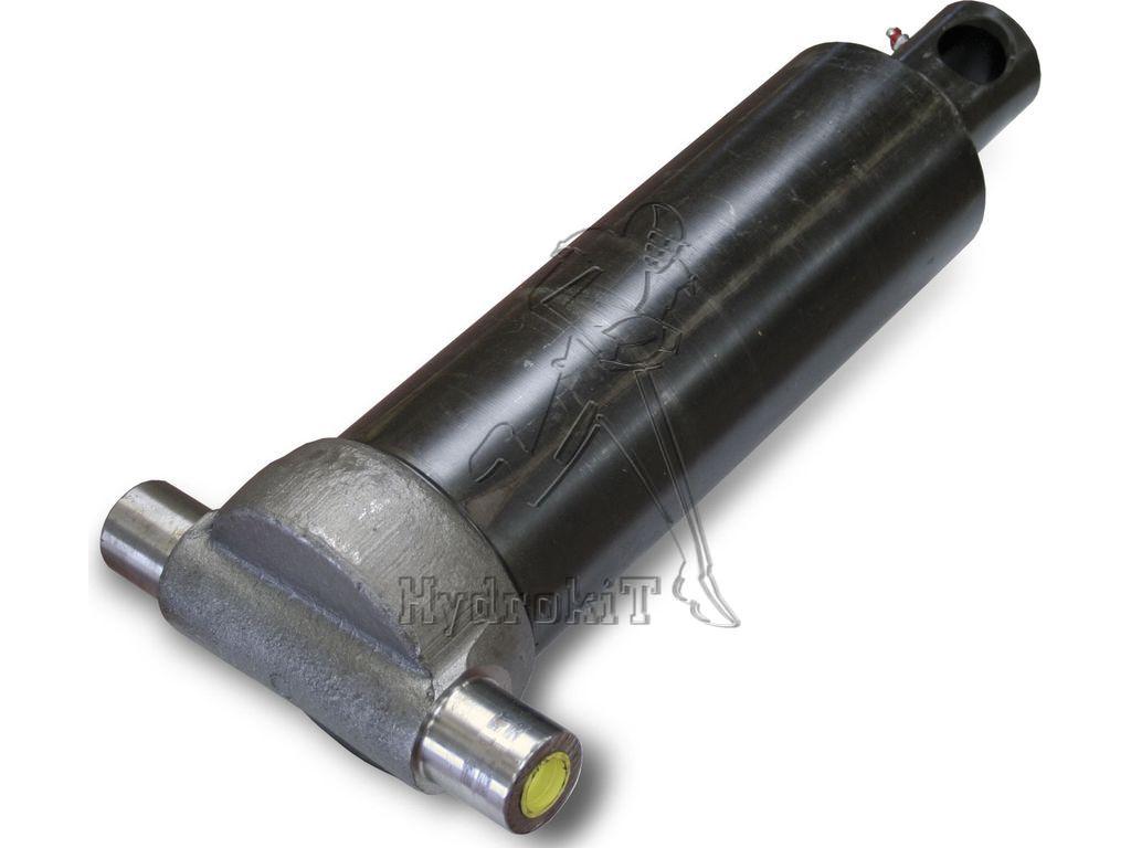 Telescopic hydraulic cylinder 46/61 stroke = 455 mm bottom