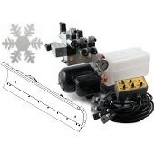 Standard snow plough kits with power packs