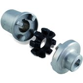 Spider type elastic couplings