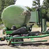 Automatic bale wrapping kit
