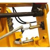 Telehandler quick couplers and hydraulic locks