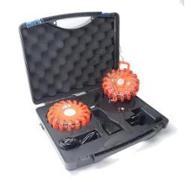 Kit 2 Flash warning orange + valise chargeur