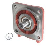 Flange counter-bearing SAE C cylind